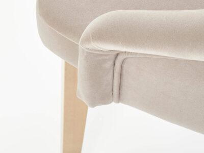 Scaun textil Toledo 2 crem H86 cm