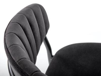 Scaun tapitat K426 velvet negru H79 cm