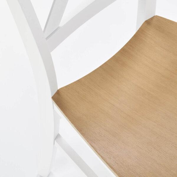 Scaun lemn Tutti alb stejar
