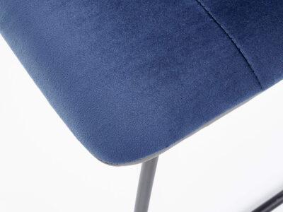 Scaun tapitat K321 albastru