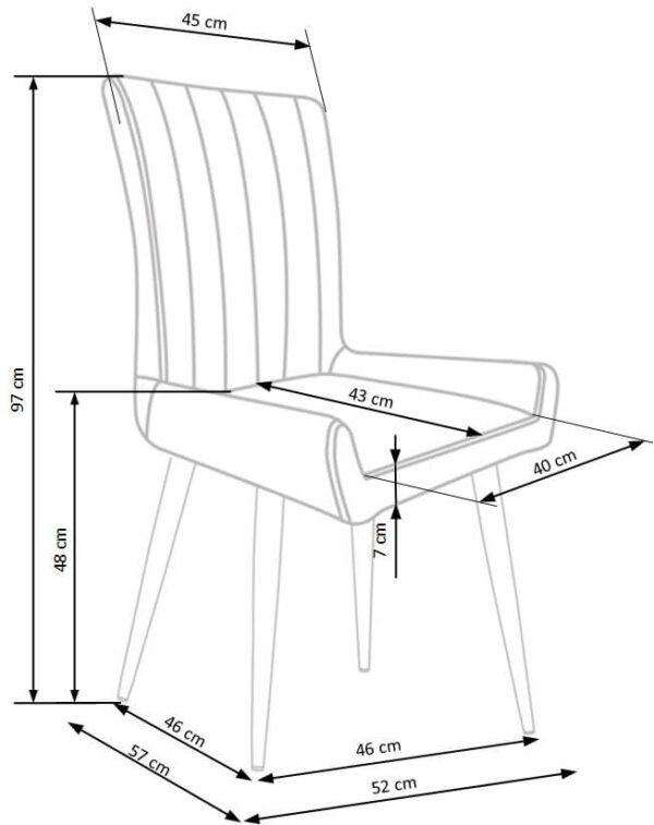 Set masa Chandler si 4 scaune K367