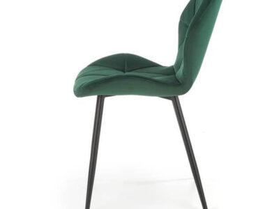 Scaun tapitat K453 velvet verde H86 cm