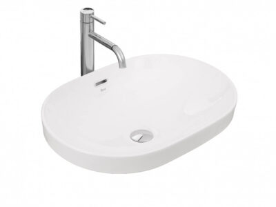 Lavoar Arleta alb ceramica sanitara – 59 cm