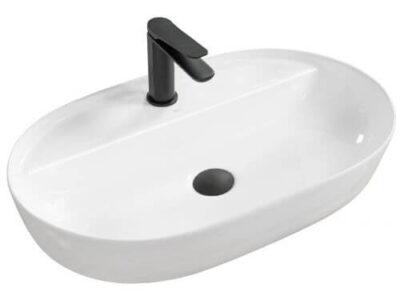 Lavoar Aura alb ceramica sanitara – 60,5 cm