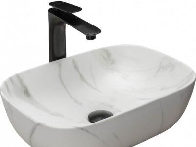 Lavoar Belinda Marmura Mat ceramica sanitara – 46 cm