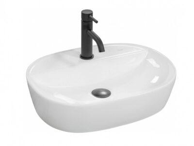 Lavoar Carina alb ceramica sanitara – 50 cm