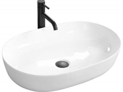 Lavoar Cleo Alb ceramica sanitara – 60,5 cm