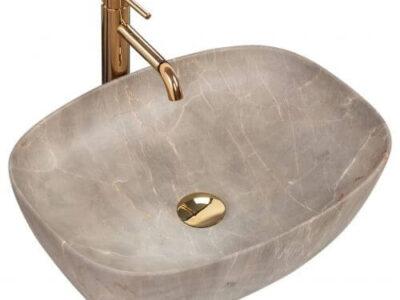 Lavoar Freja Marmura Beige ceramica sanitara – 51 cm