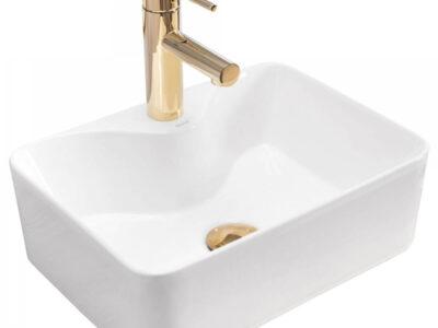 Lavoar Kelly Mini alb ceramica sanitara – 41 cm