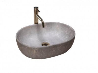 Lavoar Lara Marmura Beige ceramica sanitara – 48,5 cm