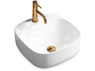 Lavoar Luiza alb ceramica sanitara – 42 cm