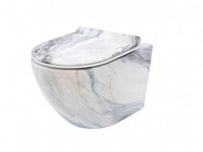 Vas wc Carlos granit suspendat capac slim softclose H32 cm