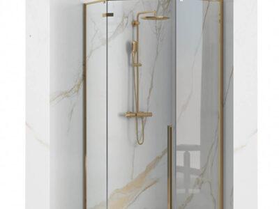 Cabina dus Diamond gold – 90×90 cm