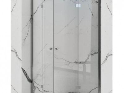 Cabina dus Fold N2 crom – 100×100 cm