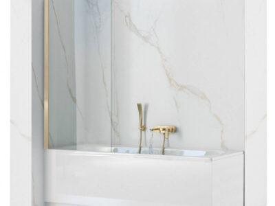 Paravan de cada Elegant Gold sticla – 80×140 cm