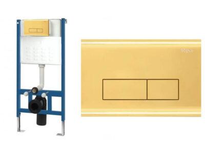 Set cu rezervor incastrat WC cu clapeta actionare H Gold