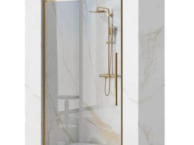Usa pentru dus Solar sticla securizata gold – 100×195 cm